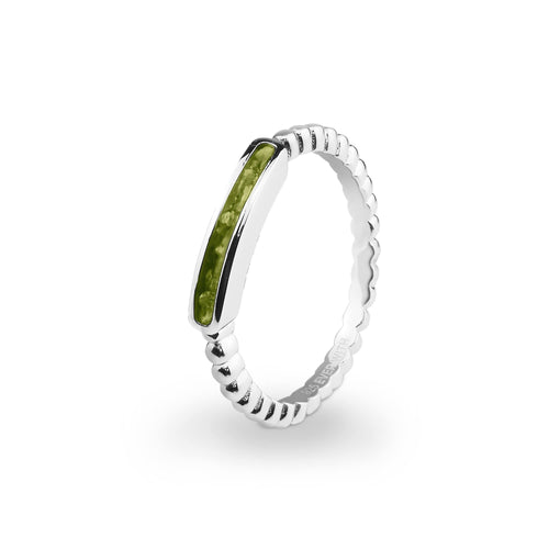 EverWith Ladies Channel Bubble Band Memorial Ashes Ring