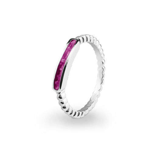 EverWith™ Ladies Channel Bubble Band Memorial Ashes Ring