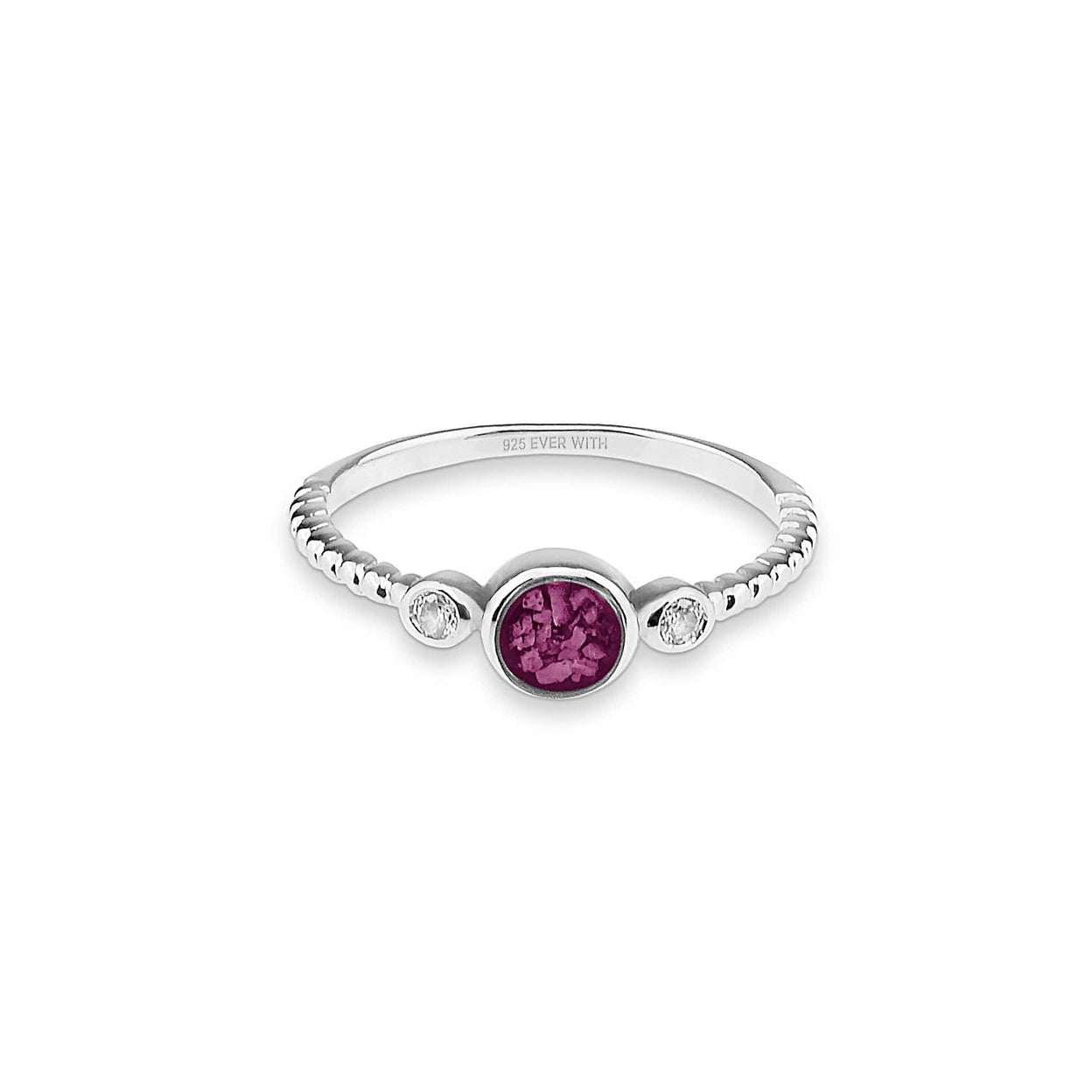 Load image into Gallery viewer, EverWith™ Ladies Peace Memorial Ashes Ring with Swarovski Crystals
