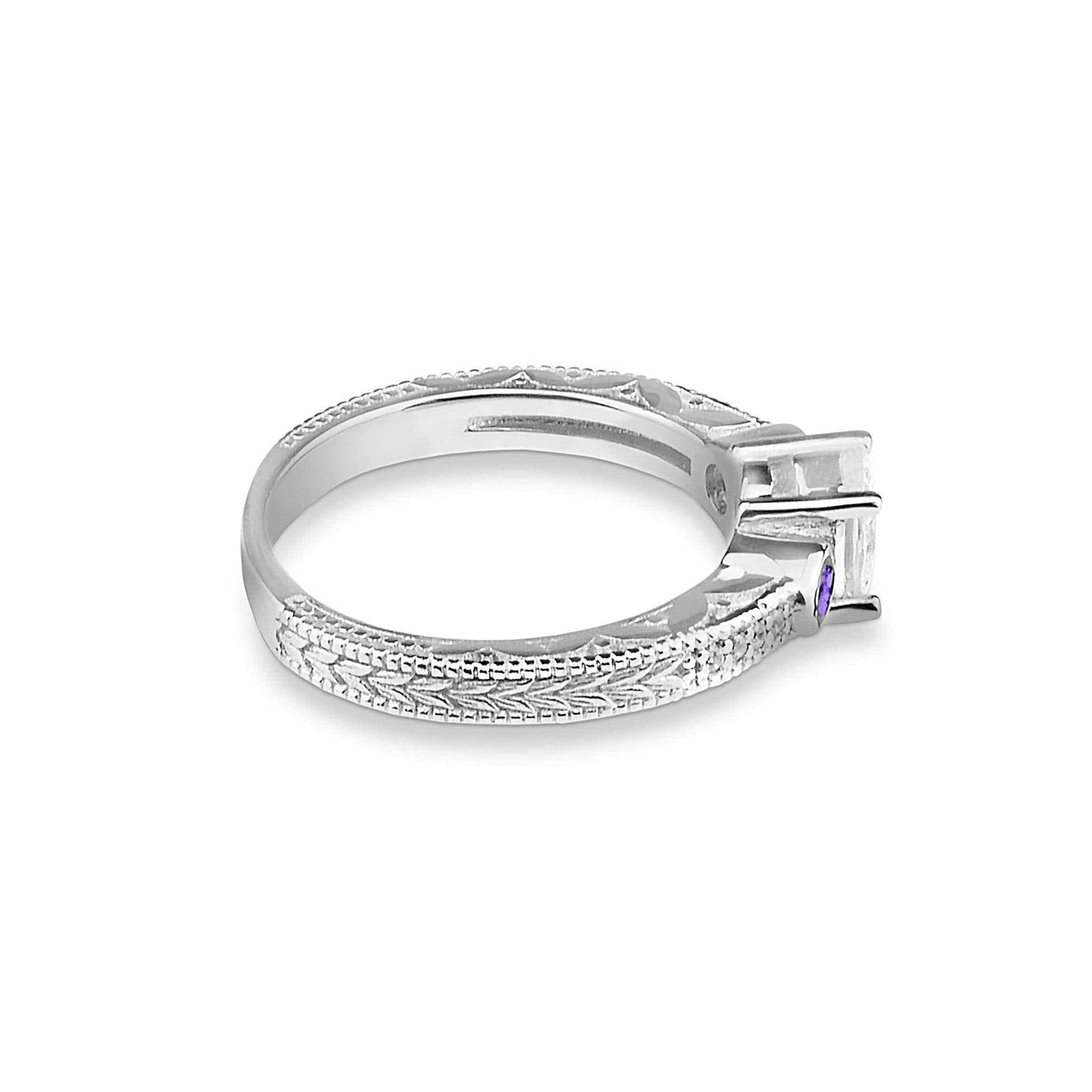 Load image into Gallery viewer, EverWith™ Ladies Serenity Memorial Ashes Ring with Swarovski Crystals