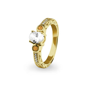 EverWith™ Ladies Serenity Memorial Ashes Ring with Swarovski Crystals