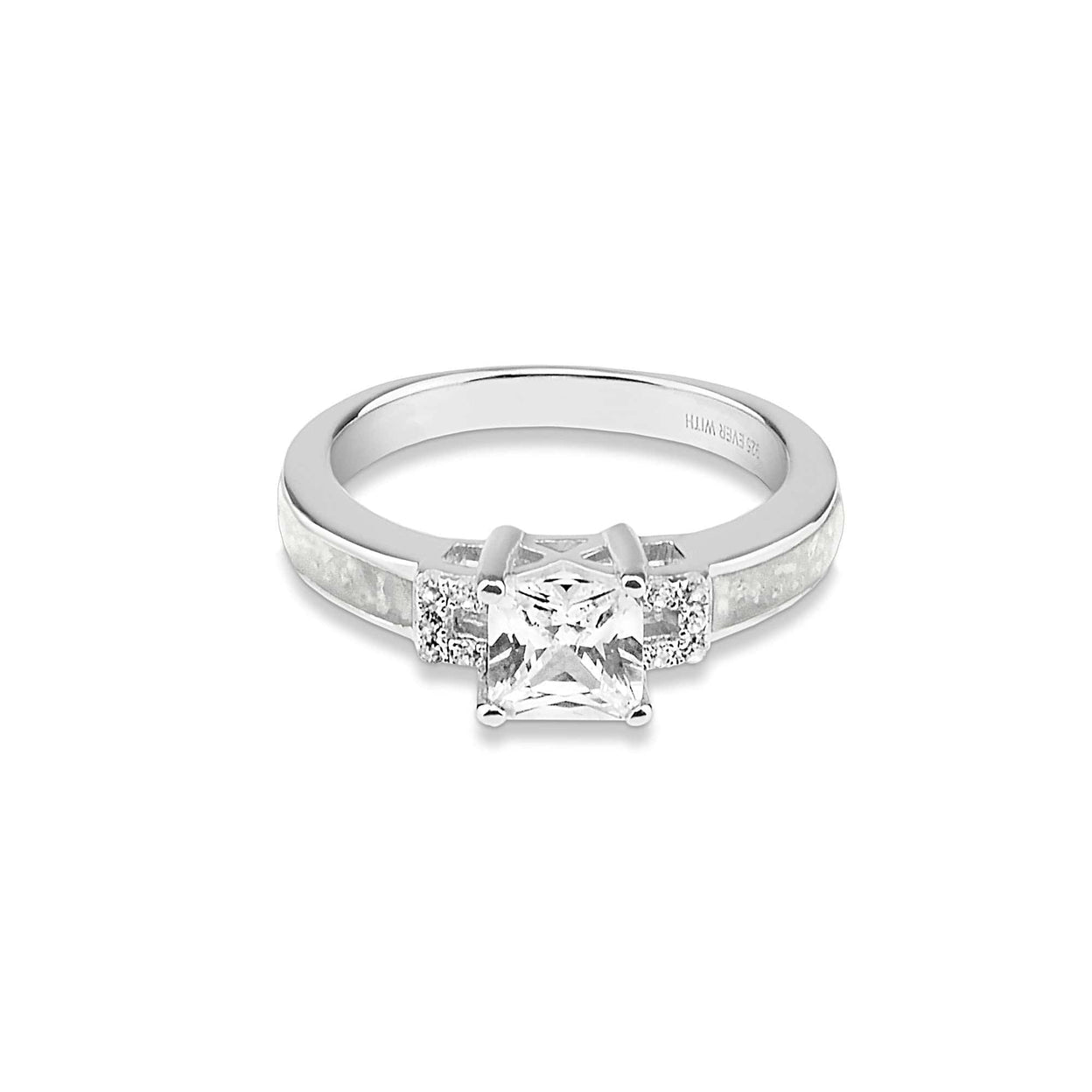Load image into Gallery viewer, EverWith Ladies Honour Memorial Ashes Ring with Fine Crystals