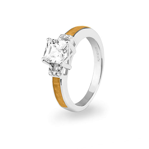 EverWith™ Ladies Honour Memorial Ashes Ring with Swarovski Crystals