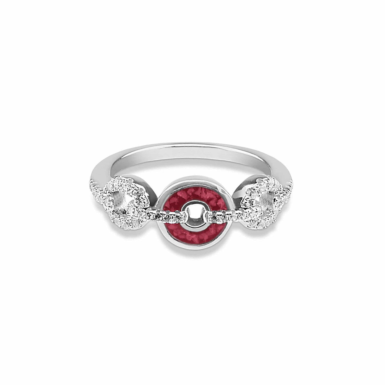Load image into Gallery viewer, EverWith™ Ladies Tranquility Memorial Ashes Ring with Swarovski Crystals