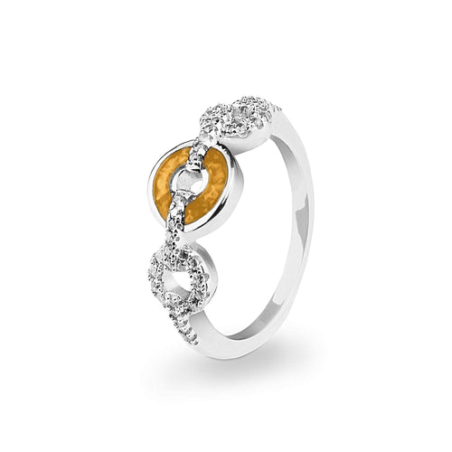 EverWith™ Ladies Tranquility Memorial Ashes Ring with Swarovski Crystals
