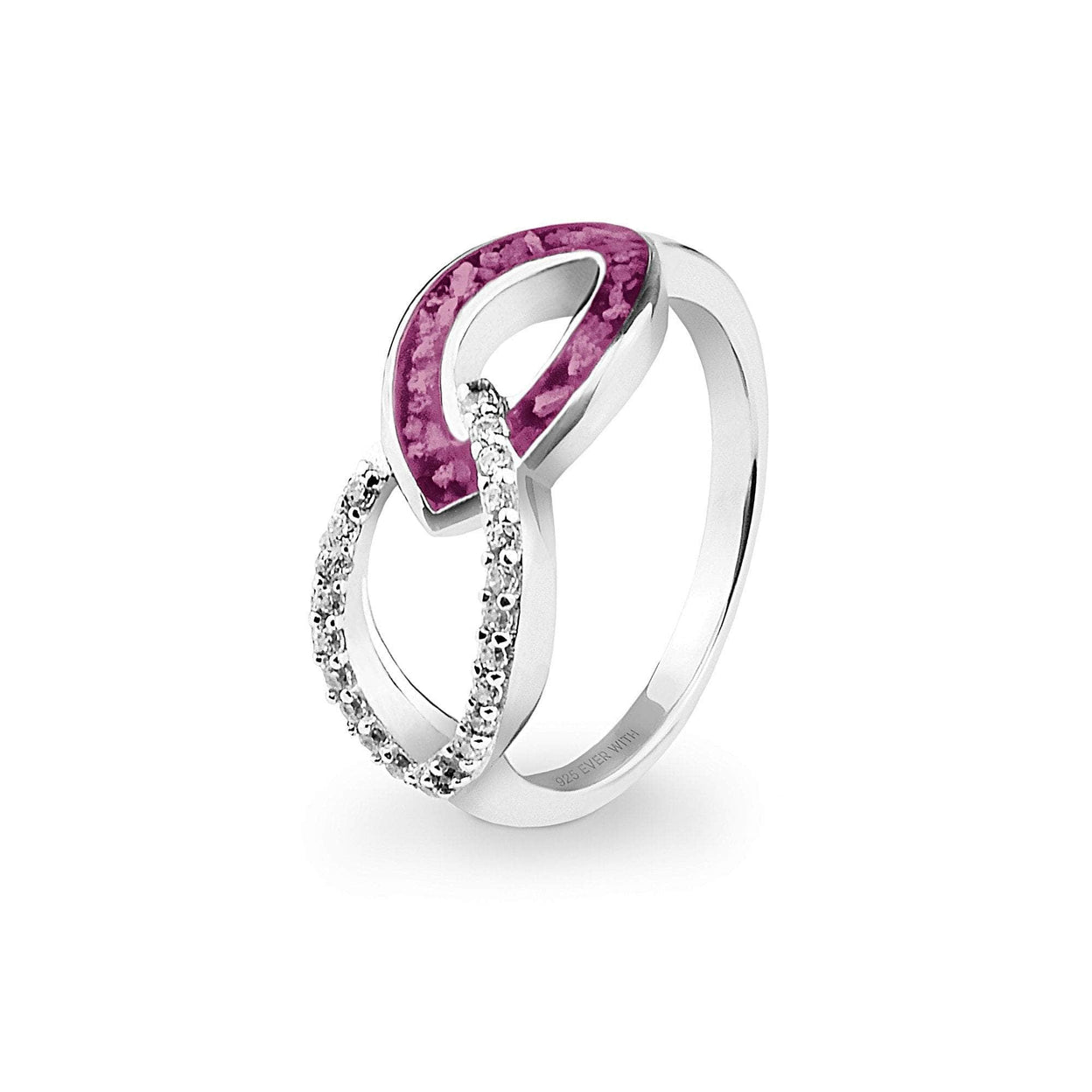 Load image into Gallery viewer, EverWith™ Ladies Unity Memorial Ashes Ring with Swarovski Crystals