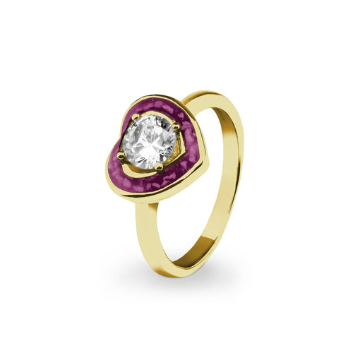EverWith™ Ladies Beloved Memorial Ashes Ring with Swarovski Crystal