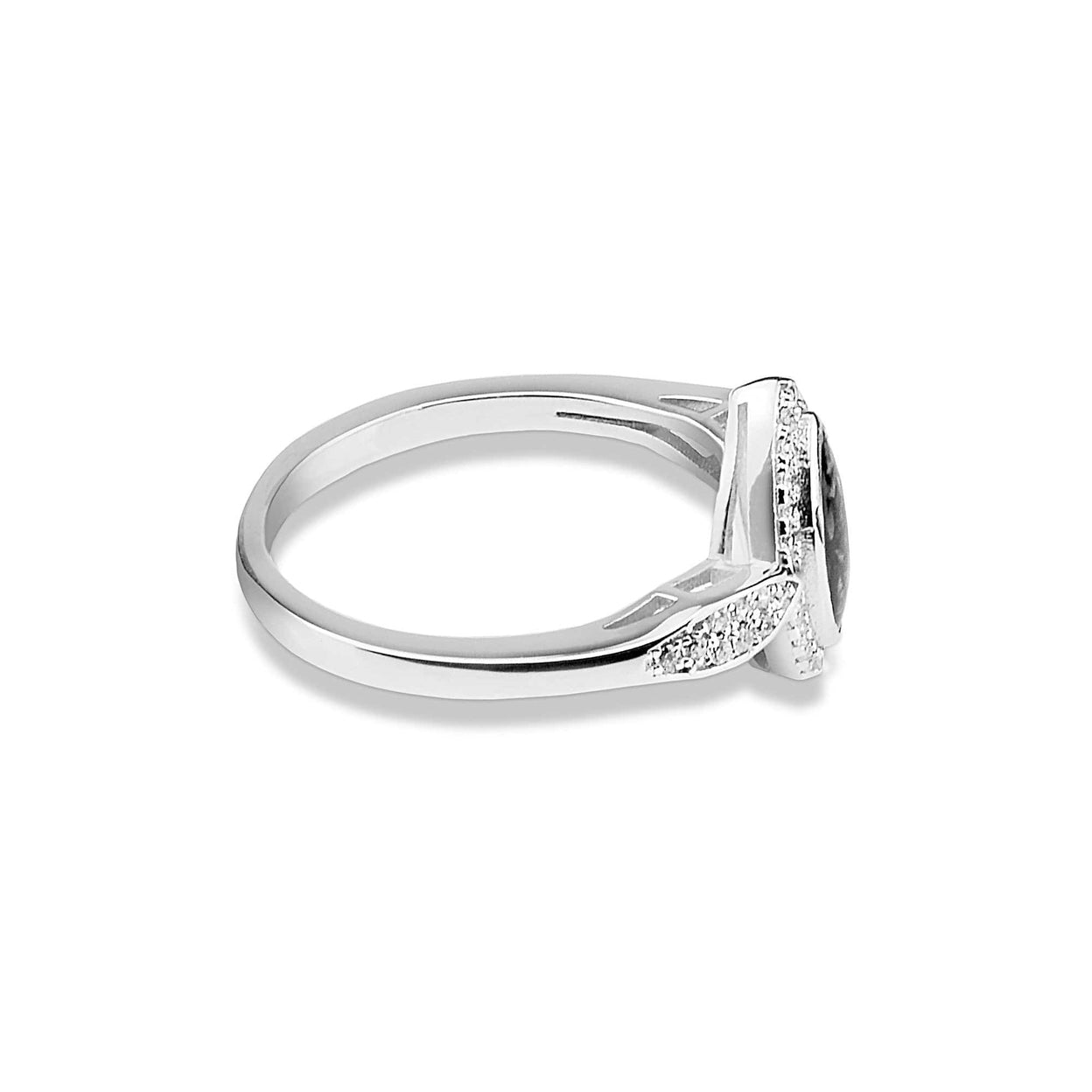 Load image into Gallery viewer, EverWith™ Ladies Marquise Memorial Ashes Ring with Swarovski Crystals