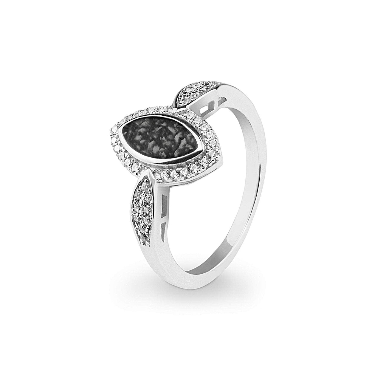 Load image into Gallery viewer, EverWith Ladies Marquise Memorial Ashes Ring with Fine Crystals