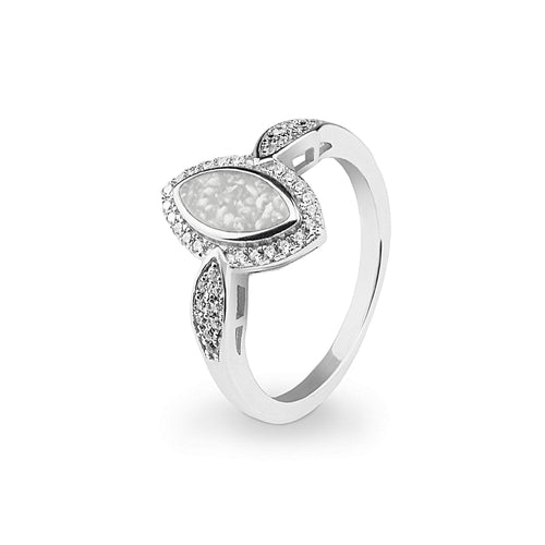 EverWith™ Ladies Marquise Memorial Ashes Ring with Swarovski Crystals