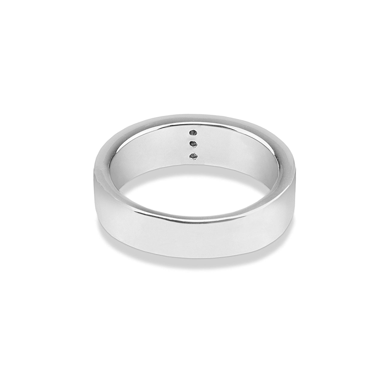 Load image into Gallery viewer, EverWith™ Unisex Three Together Memorial Ashes Ring with Swarovski Crystals