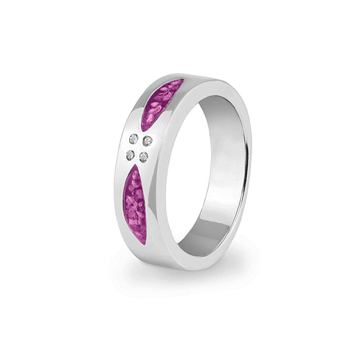 EverWith™ Unisex Four Together Memorial Ashes Ring with Swarovski Crystals