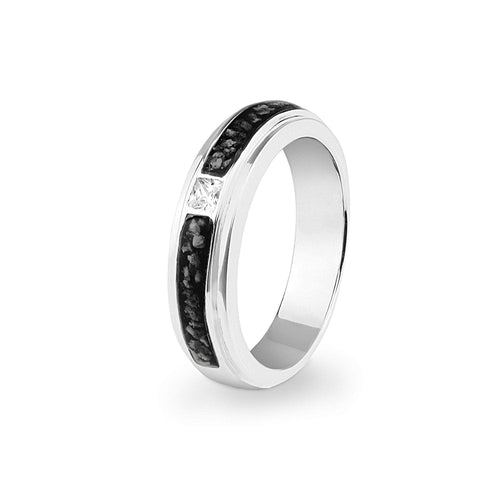 EverWith™ Unisex Remembrance Memorial Ashes Ring with Swarovski Crystal
