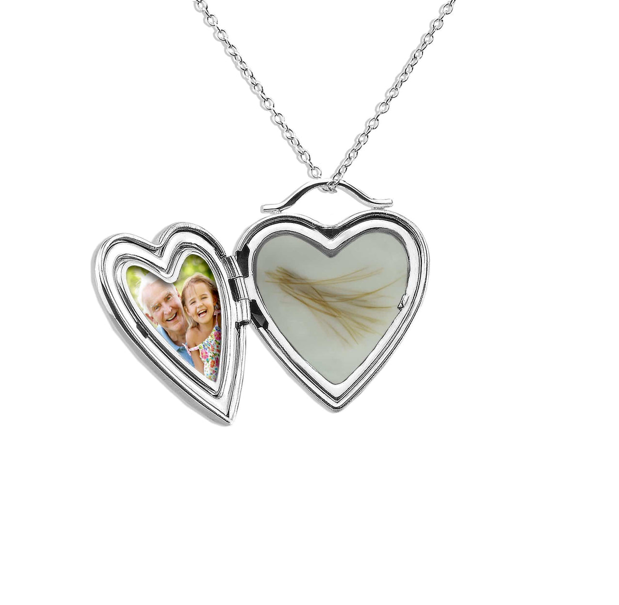 Load image into Gallery viewer, EverWith™ Shining Star Heart Shaped Sterling Silver Memorial Ashes Locket