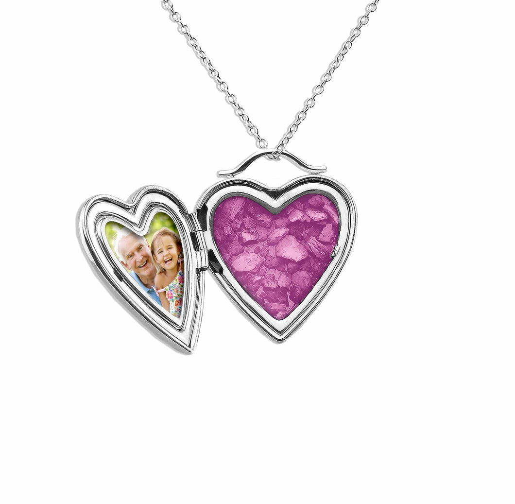 EverWith™ Always On My Mind Heart Shaped Sterling Silver Memorial Ashes Locket