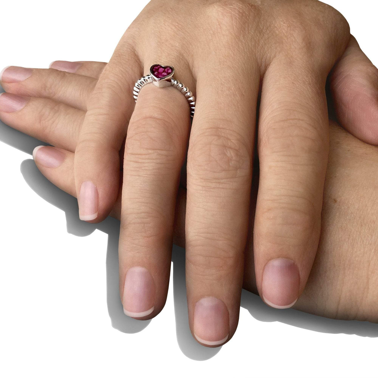 Load image into Gallery viewer, EverWith™ Ladies Heart Bubble Band Memorial Ashes Ring