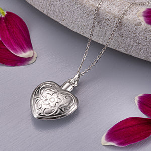 EverWith™ Self-fill Elegant Heart Memorial Ashes Pendant