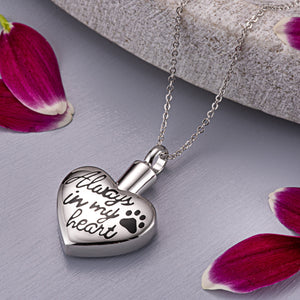 EverWith Self-fill Always in my Heart Memorial Ashes Pendant