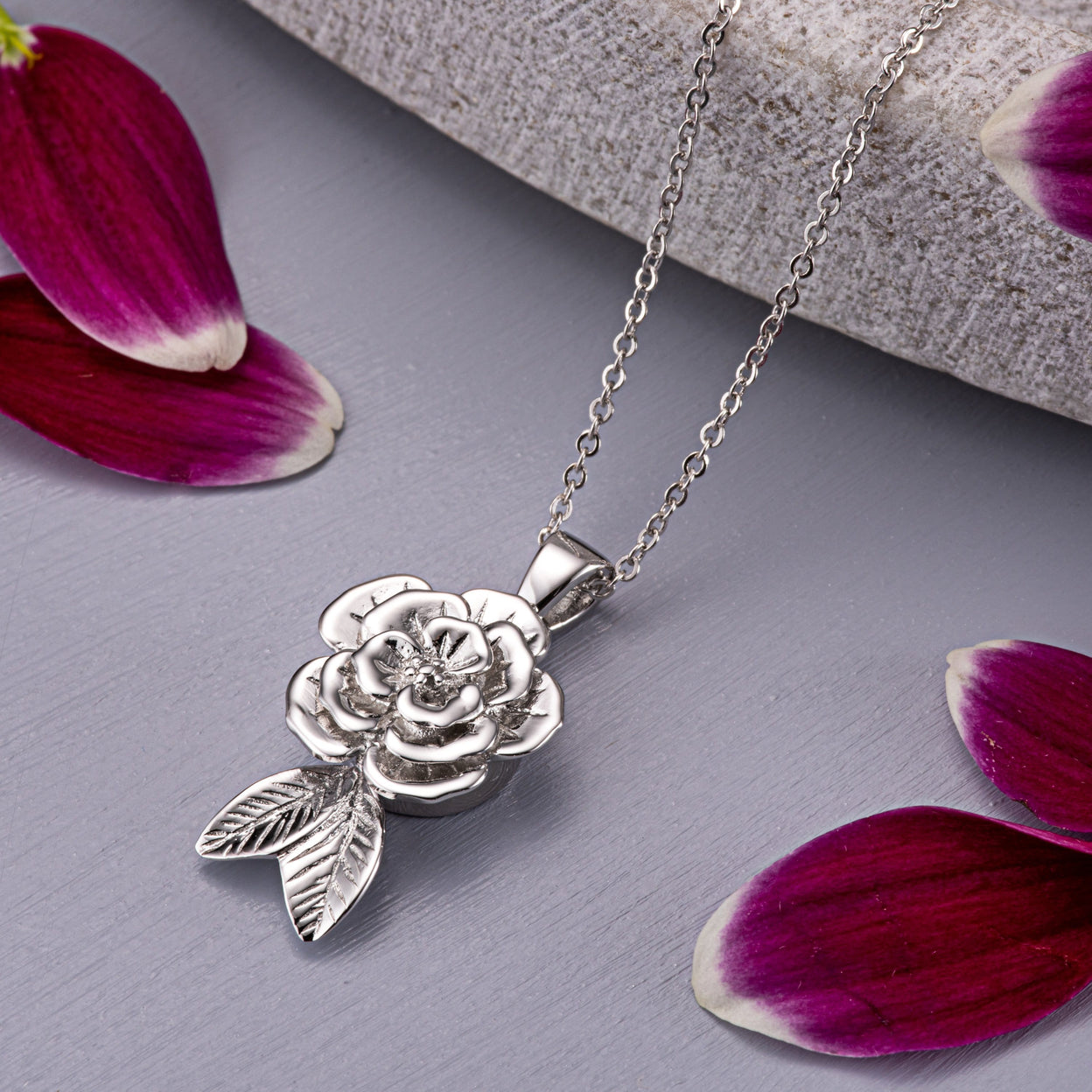 Load image into Gallery viewer, EverWith™ Self-fill Rose Memorial Ashes Pendant