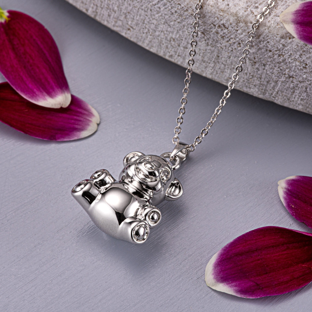 Load image into Gallery viewer, EverWith™ Self-fill Teddy Bear Memorial Ashes Pendant