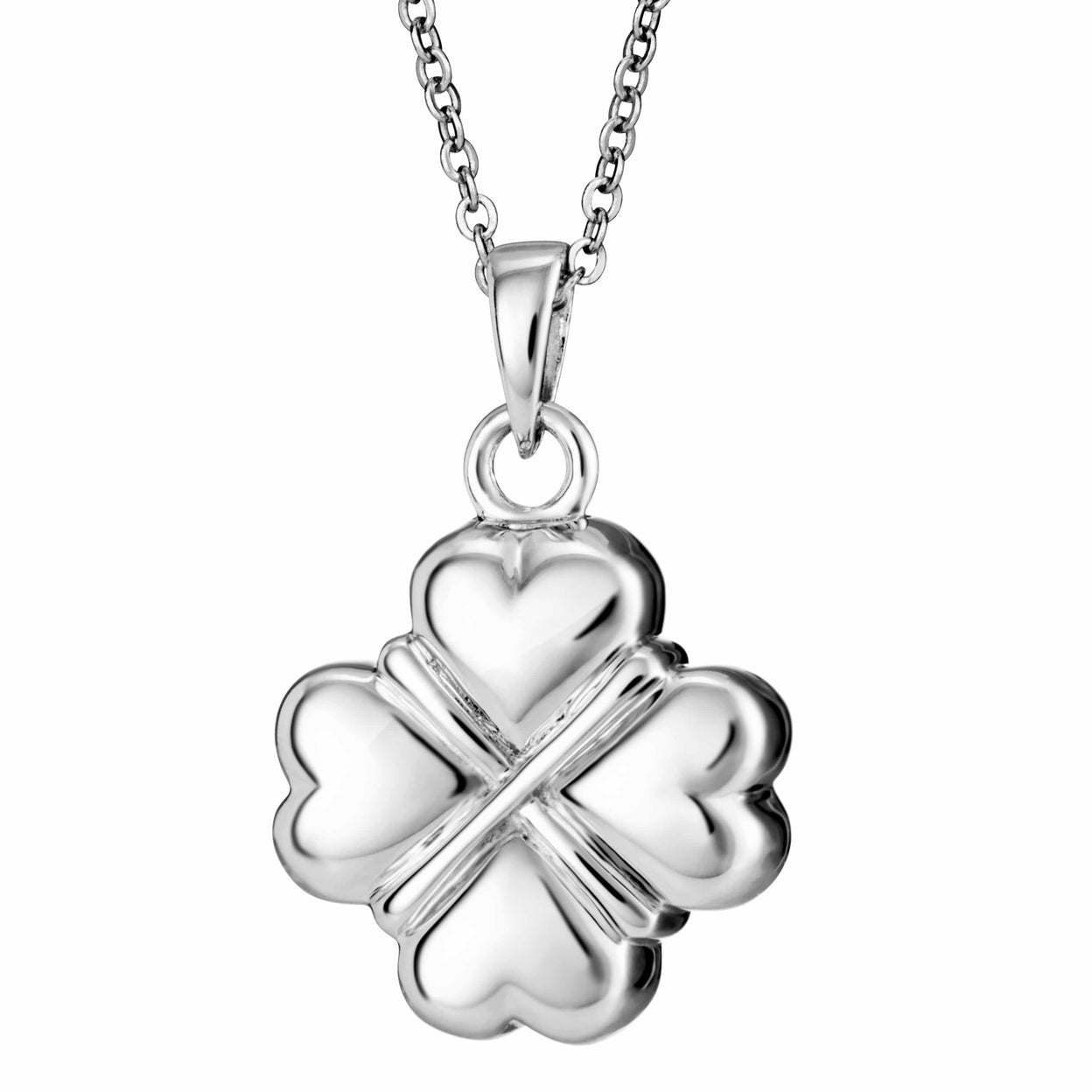 Load image into Gallery viewer, EverWith Self-fill Traditional Clover Memorial Ashes Pendant