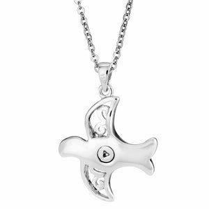EverWith™ Self-fill Wings of Love Memorial Ashes Pendant