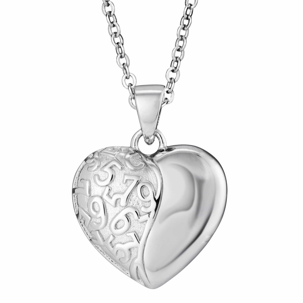 EverWith™ Self-fill Heart Swirl Memorial Ashes Pendant