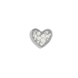 EverWith™ Small Heart Memorial Ashes Element for Glass Locket
