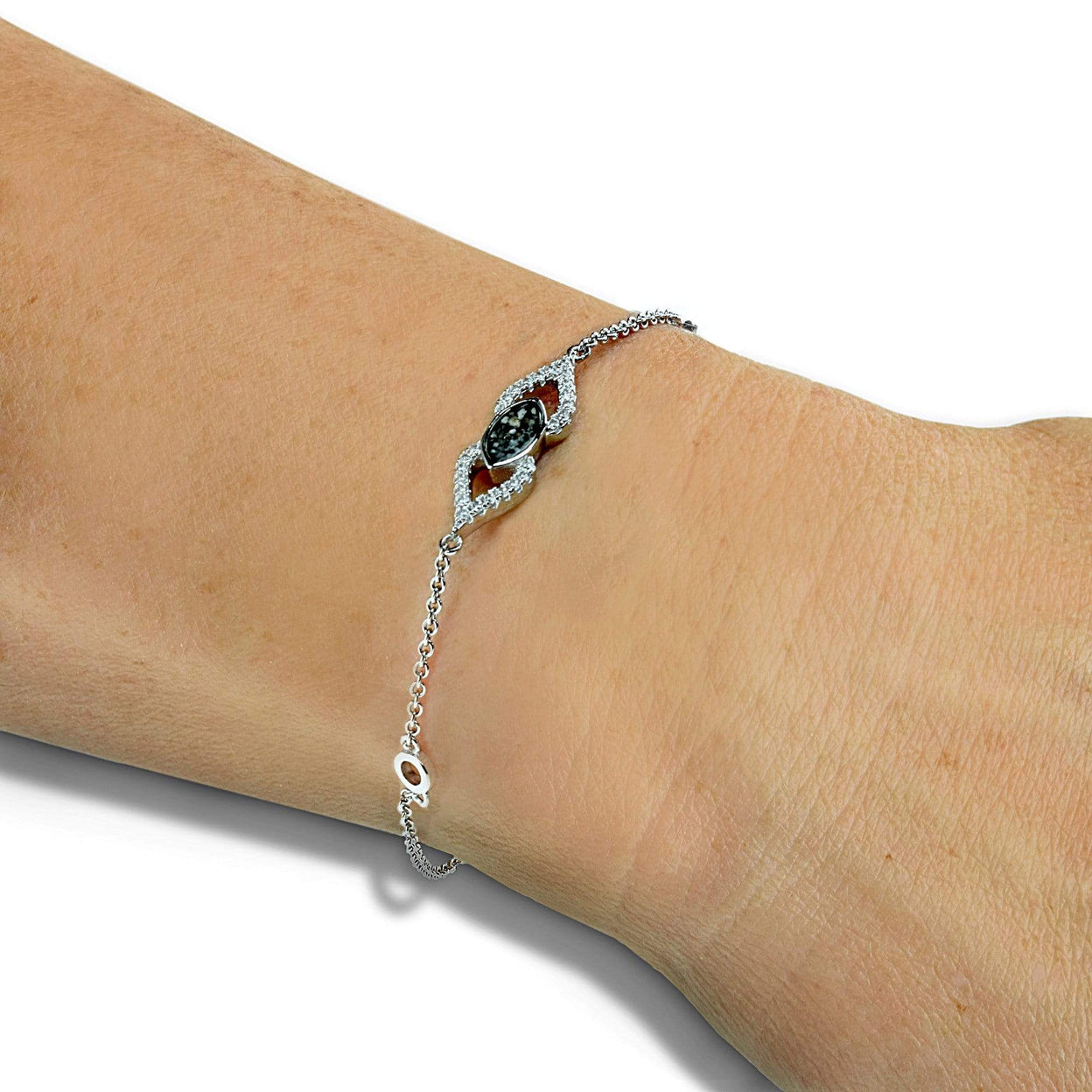 Load image into Gallery viewer, EverWith™ Ladies Respect Memorial Ashes Bracelet with Swarovski Crystals