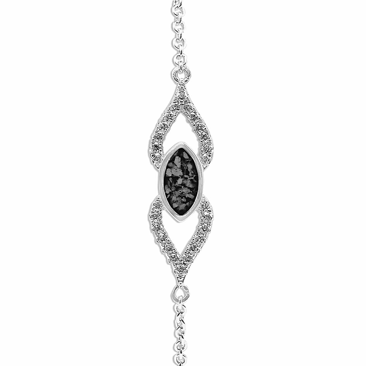Load image into Gallery viewer, EverWith Ladies Respect Memorial Ashes Bracelet with Fine Crystals