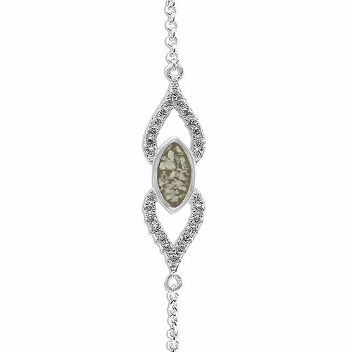 EverWith™ Ladies Respect Memorial Ashes Bracelet with Swarovski Crystals