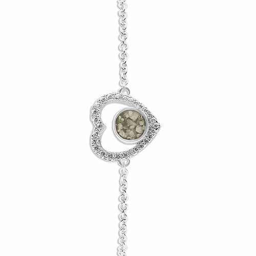 EverWith™ Ladies Forever Memorial Ashes Bracelet with Swarovski Crystals
