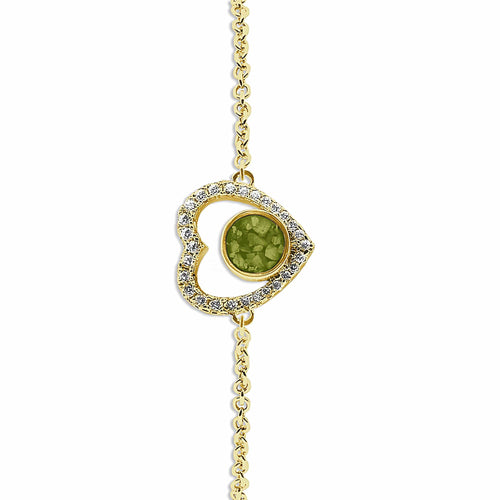 EverWith Ladies Forever Memorial Ashes Bracelet with Fine Crystals
