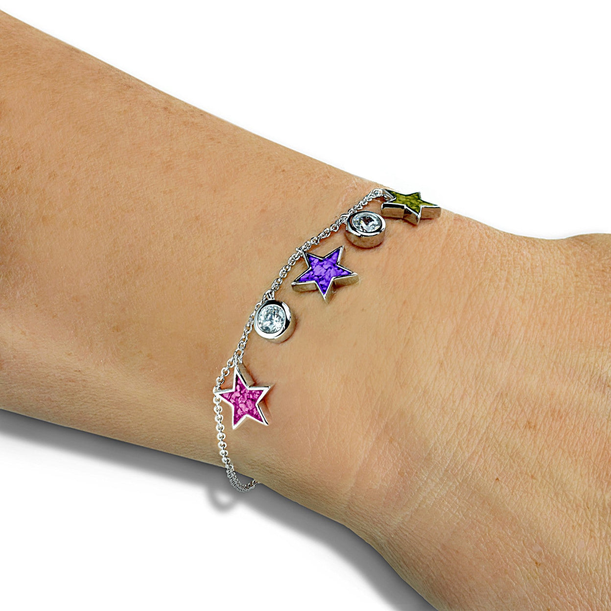 Load image into Gallery viewer, EverWith™ Ladies Galaxy Memorial Ashes Bracelet with Swarovski Crystals