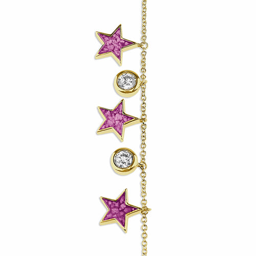 EverWith Ladies Galaxy Memorial Ashes Bracelet with Fine Crystals