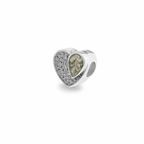 EverWith™ Beloved Memorial Ashes Charm Bead with Swarovski Crystals