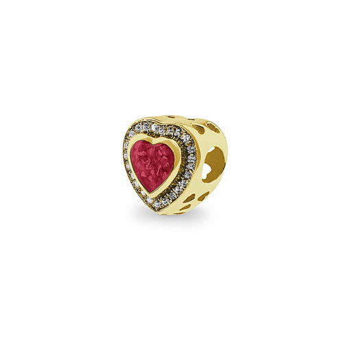 EverWith Comfort Memorial Ashes Charm Bead with Fine Crystals