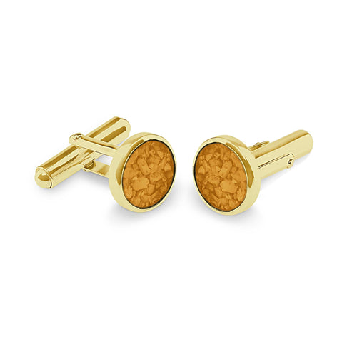 EverWith™ Gents Classic Round Memorial Ashes Cufflinks