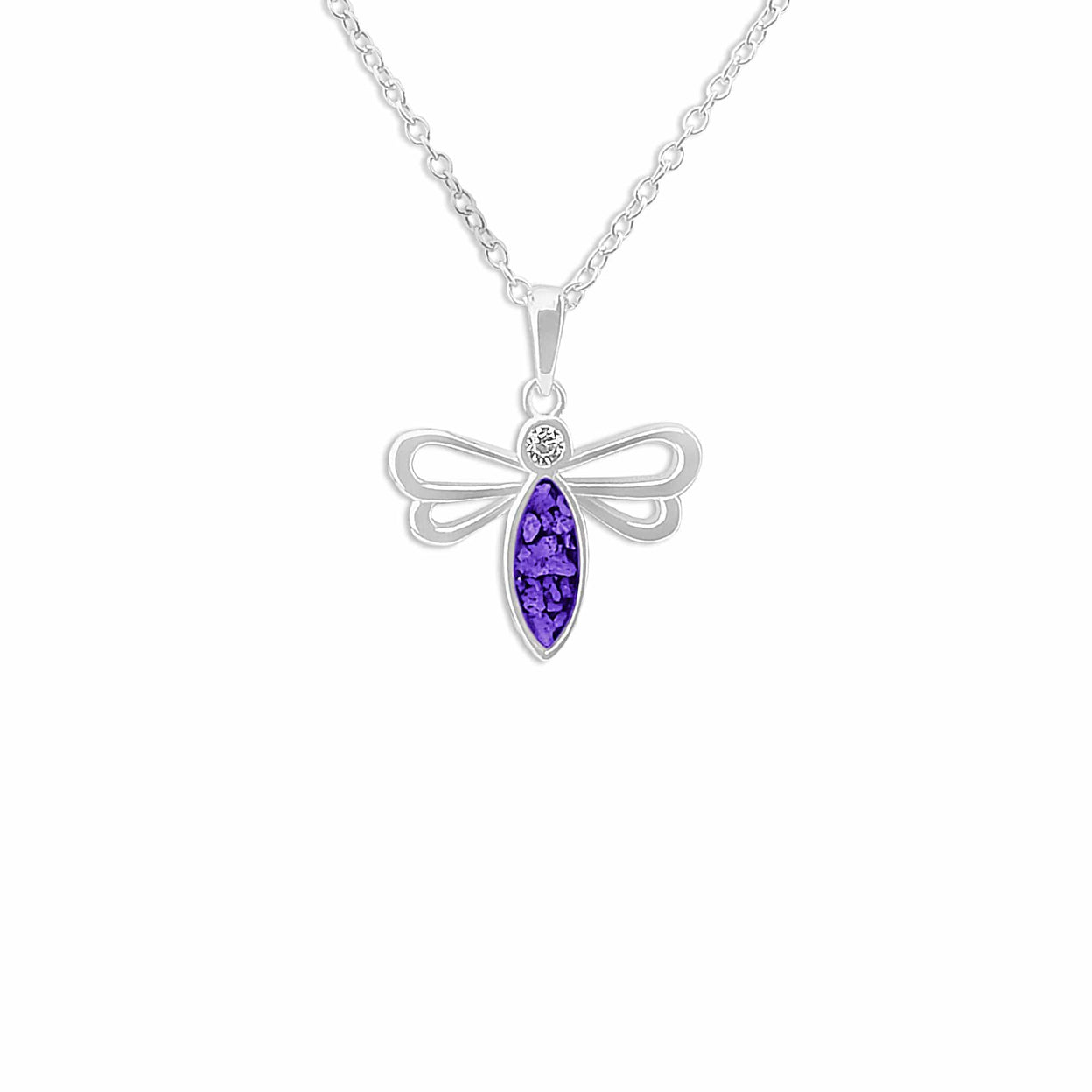 Load image into Gallery viewer, EverWith™ Ladies Bee Memorial Ashes Pendant with Swarovski Crystal