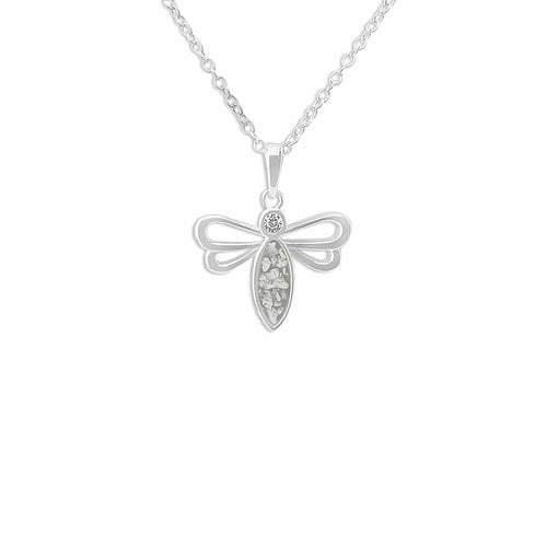 EverWith™ Ladies Bee Memorial Ashes Pendant with Swarovski Crystal