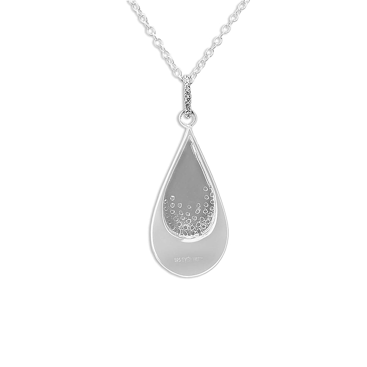 Load image into Gallery viewer, EverWith™ Ladies Layered Teardrop Memorial Ashes Pendant with Swarovski Crystals