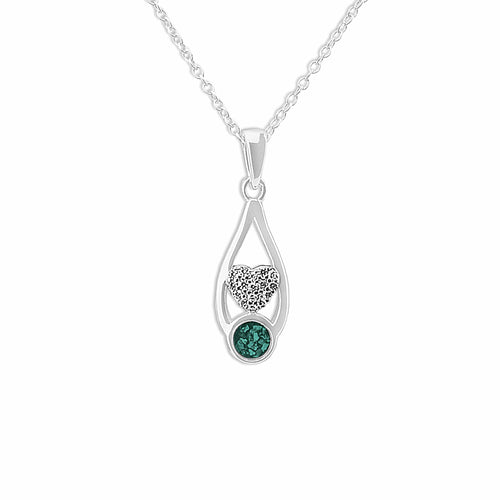 EverWith™ Ladies Protect Memorial Ashes Pendant with Swarovski Crystals