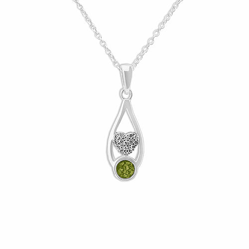 EverWith Ladies Protect Memorial Ashes Pendant with Fine Crystals