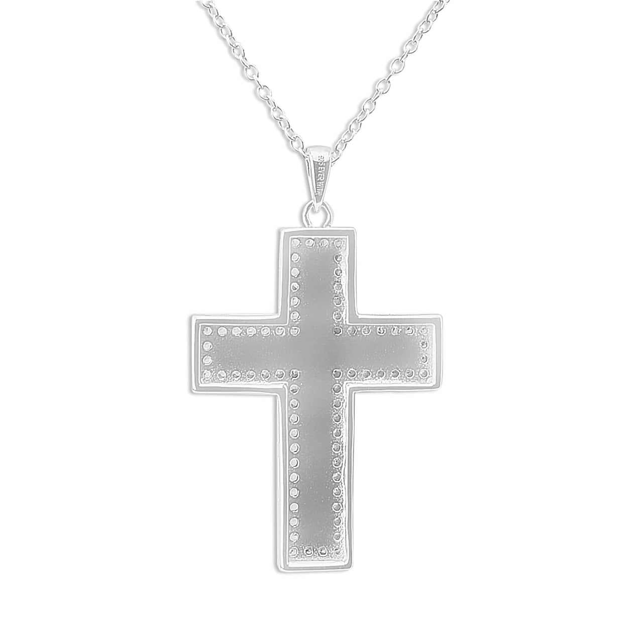 Load image into Gallery viewer, EverWith™ Unisex Cross Memorial Ashes Pendant with Swarovski Crystals