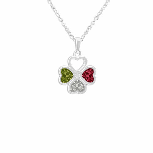EverWith™ Ladies Clover Memorial Ashes Pendant
