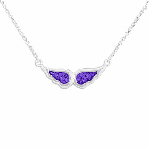 EverWith™ Ladies Angel Wings Memorial Ashes Necklace