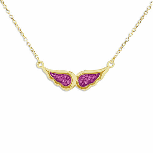 EverWith Ladies Angel Wings Memorial Ashes Necklace
