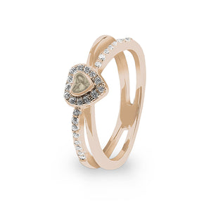 EverWith™ Ladies Sweetheart Memorial Ashes Ring with Swarovski Crystals