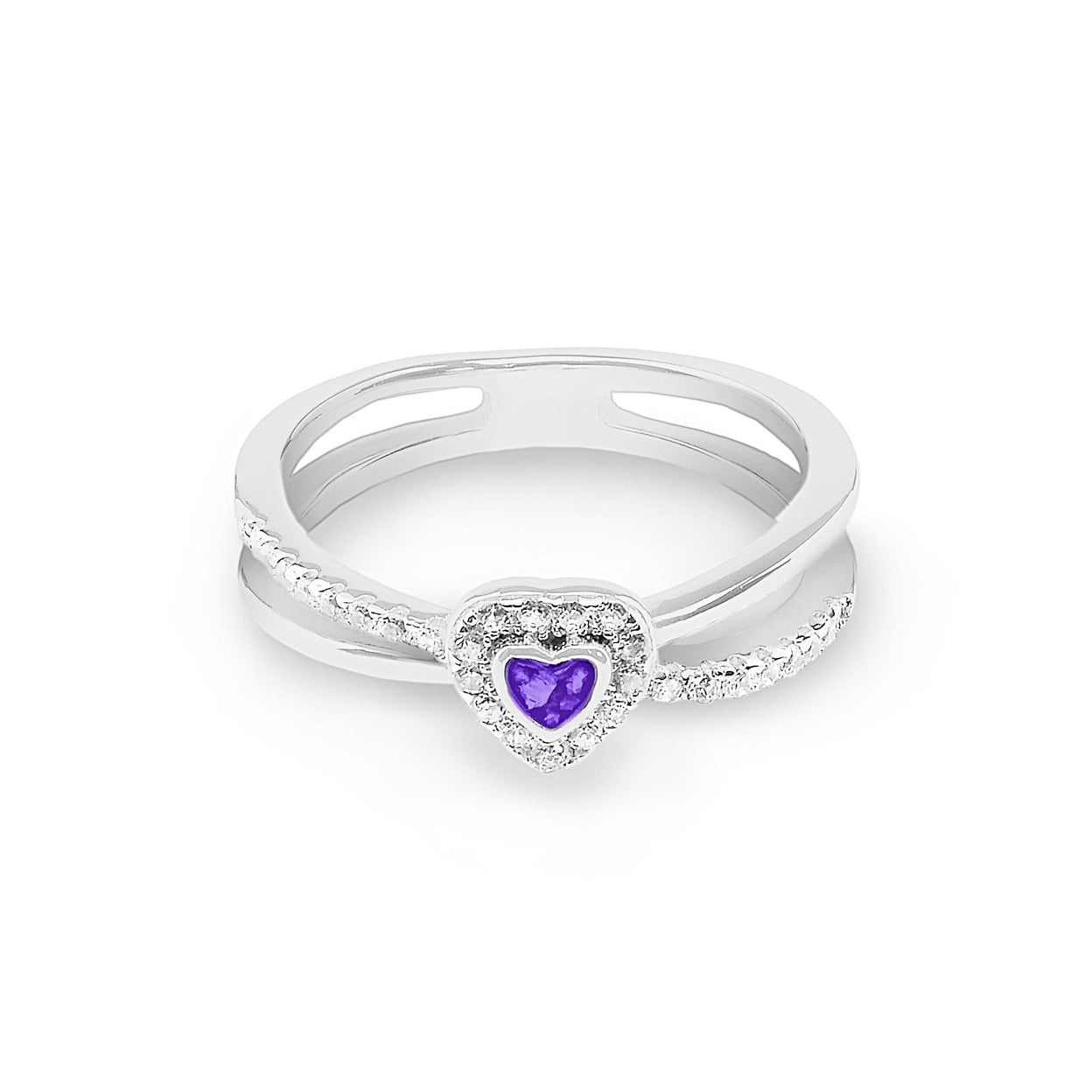 Load image into Gallery viewer, EverWith™ Ladies Sweetheart Memorial Ashes Ring with Swarovski Crystals