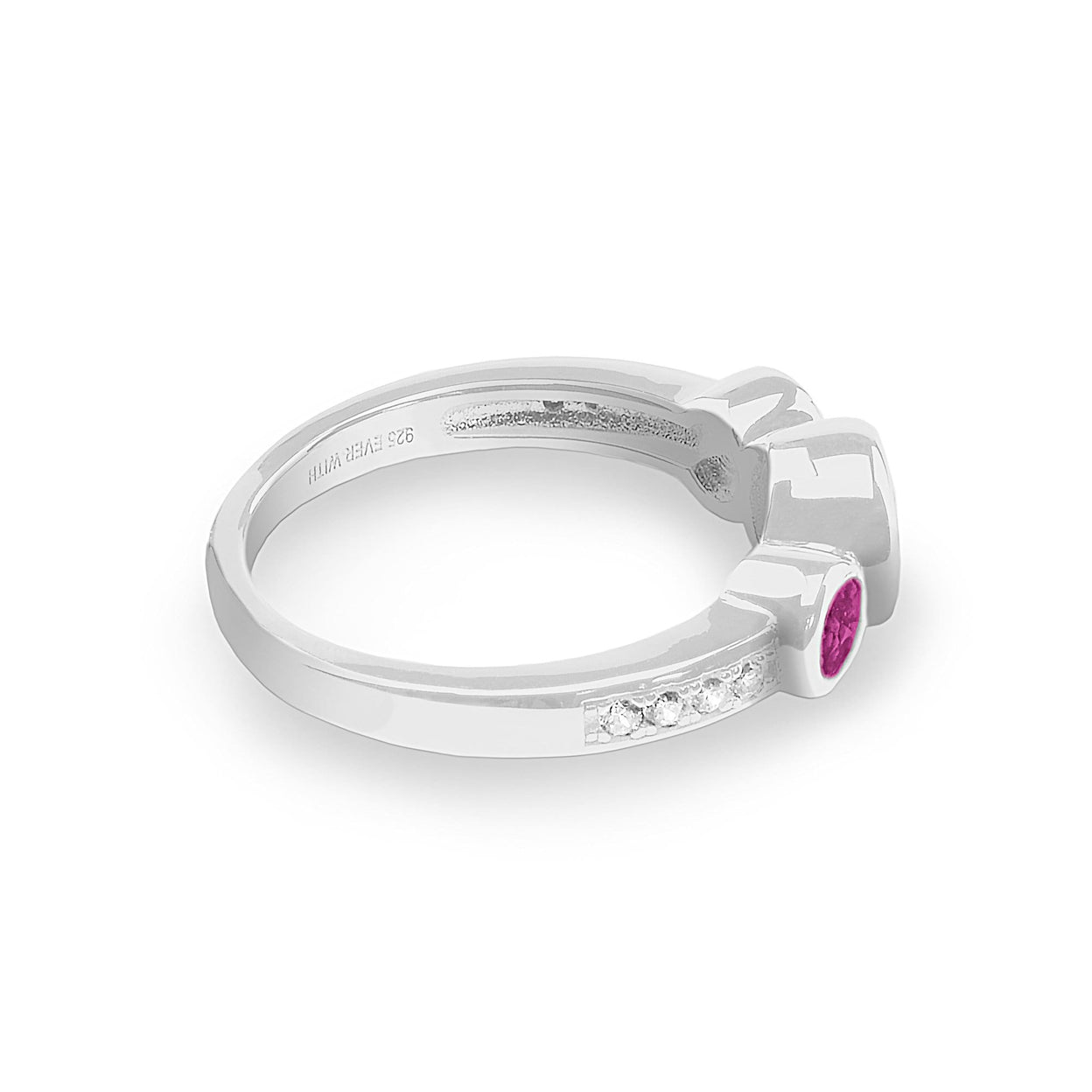 Load image into Gallery viewer, EverWith Ladies Jewel Memorial Ashes Ring with Fine Crystal